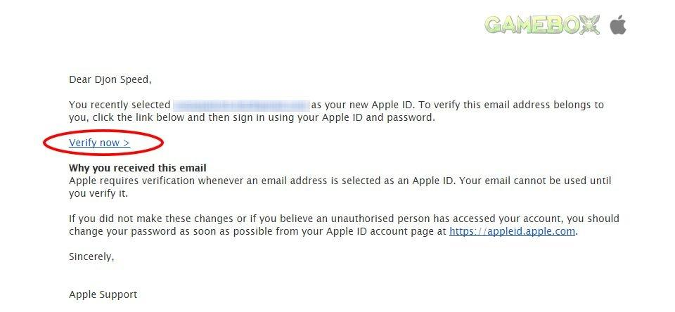 верификация Apple ID