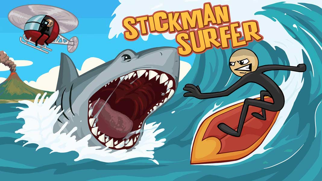 Скачать Stickman Surfer для iOS, Android
