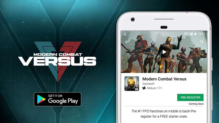Modern Combat Versus google play