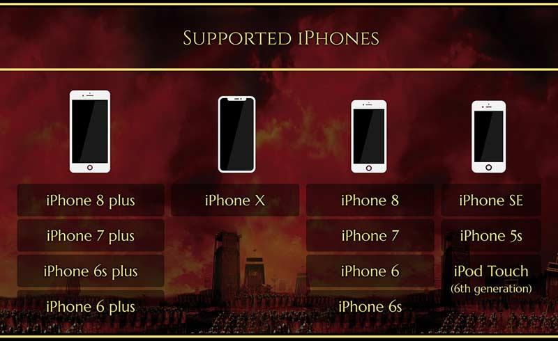версии iPhone поддерживающие ROME: Total War